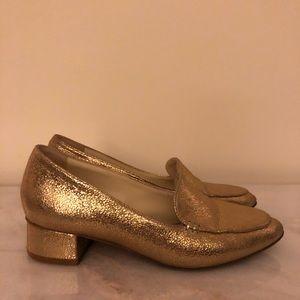 Sarah Flint Gold Crackled Leather Rosie 30mm